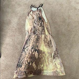 Snake skin print polyester dress